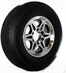 ST225/75R15 Radial Trailer Tire with T04 6 on 5.50 Aluminum Trailer Rim