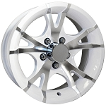 White Trailer Wheels