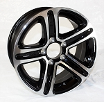 13 x 5.5 T09 Trailer Rim Black Machined, 5x4.50 Lug Pattern 1,660 lb Capacity