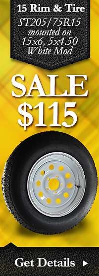 15 in Trailer Wheel & Tire Combo on Sale - Free Shipping, too!