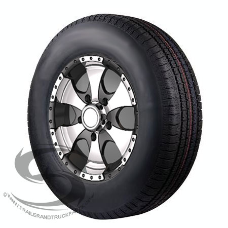 14 x 6 transformer aluminum trailer wheel and 215 75r14 radial special trailer tire assembly. Black Bedroom Furniture Sets. Home Design Ideas