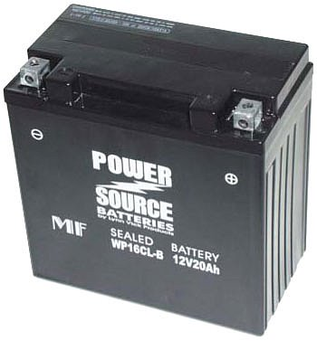 sealed power source battery model wp16cl b jet ski battery pwc batter. Black Bedroom Furniture Sets. Home Design Ideas