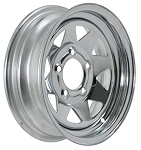 13 x 4.5 Chrome Spoke Steel Trailer Wheel 5 x 4.50 Lug, 1,660 Load Capacity