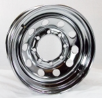 16 x 6 Chrome Modular Steel Trailer Wheel 8x6.50 Lug, 3760 lb Max Load (COPY)