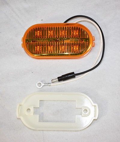 4 in Oval Amber Digital LED Multi-Diode Side Marker Light
