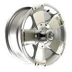 14 x 5.5 HiSpec Series01 Aluminum Trailer Wheel w/Center Cap, 5 on 4.50