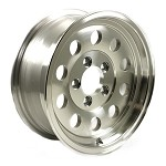 14 x 5.5 HiSpec Aluminum Mod Trailer Wheel no Rivets 5 on 4 1/2