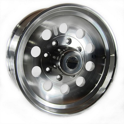 17.5x6.75 Aluminum Modular Trailer Wheel 8 x 6.50 Center Cap & 9/16 in Lug Nuts Included