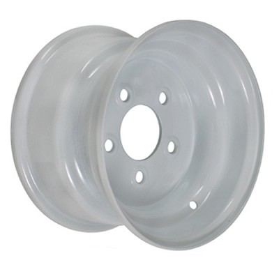 10 x 6 in Standard White Painted Trailer Rim 5 on 4.5 Lug W1065RW