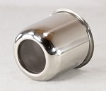 3.30 in Trailer Wheel Center Cap Stainless Steel Open End