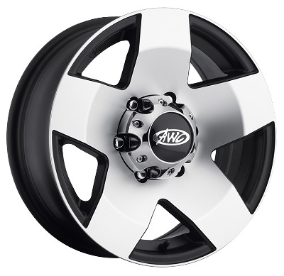 15x5 Phat Star Aluminum Trailer Wheel, 5 on 4.50 with Center Cap