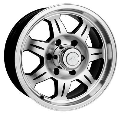 15 x 6 SAWTOOTH 870 Aluminum Trailer Wheel 6x5.50 with Center Cap