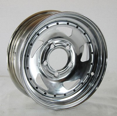 13 x 4.5 Chrome Blade Trailer Wheel 5 on 4.50 Lug, 1,660 lb Load Capacity