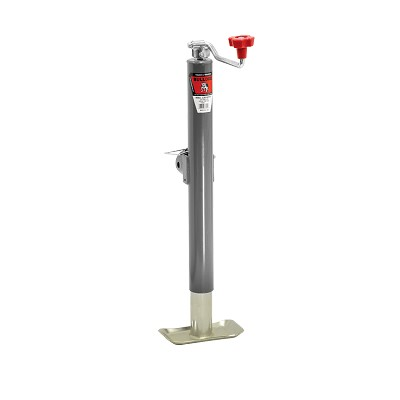 "Swivel Jack, Topwind, 15"" Travel, Weld-On Tubular Mount, 5,000 lbs. Lift Capacity with Footplate"