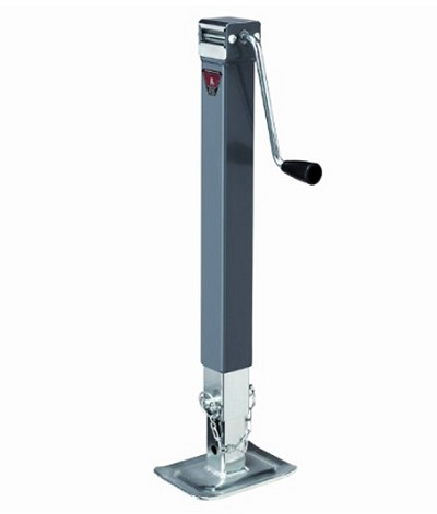 Fulton Bulldog Square Jack w/ Footplate - Drop Leg - Sidewind - 15 in Lift - 8,000 lb