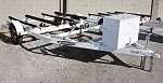 SOLD! Used 2010 Zieman 2-Place Watercraft Trailer in White