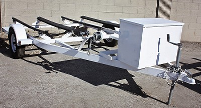SOLD! Used 2010 Zieman Double PWC (Jet Ski) Trailer in White