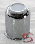 2.65 in Trailer Wheel Center Cap Chrome Plated Steel Closed End