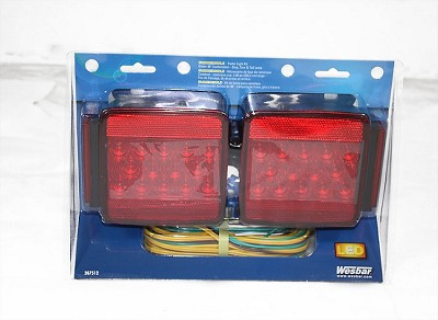"Wesbar LED Submersible Light Kit, LED Tail Light Kit w/25' Wire Harness (over 80"") #287512"