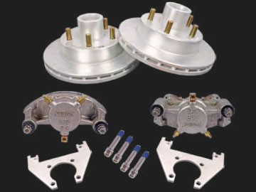 "KODIAK 10"" Trailer Disc Brake Assy, Stainless Steel, DAC (Complete 1 Axle Kit) with stainless steel calipers"