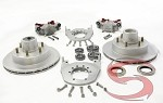 "Kodiak 2HRCM12DAC 12"" Disc Brake Kit Silver DAC, 6 on 5-1/2,  5,200 lbs to 6,000 lbs"