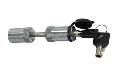 Chrome-Plated, Quarter-Turn Trailer Coupler Latch Lock w/ Tube Key #DT30010