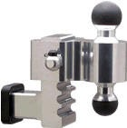 "3461 Rapid Hitch 4"" Adjustable Drop w/ Greaseless AlimiBall 2"" x 2-5/16"" Combo Ball"