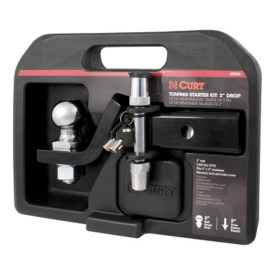 "CURT Class II Towing Starter Kit Ball and 2"" Drop Ball Mount #45534"