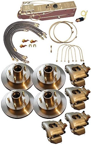 Titan Disc Brake Kit and Aero 7500 Actuator with Solenoid | Manual Lockout Tandem, 3,500 lb Axle