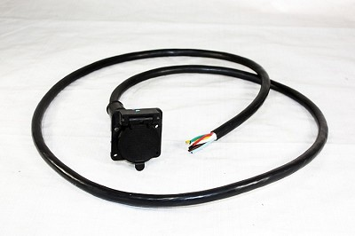 Bargman 7-Way Molded Car End Kit w/ 7 ft Cable #50-87-007