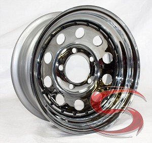 13 x 4.5 Chrome Modular Trailer Wheel 5 on 4.50 Lug, 1,660 lb Load Capacity
