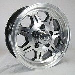 14 x 6 SAWTOOTH 870 Aluminum Trailer Wheel 5 on 4.50 with Center Cap