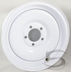 13 x 4.5 White Painted Solid Steel Trailer Wheel 5x4.50 Lug, 1,660 lb Load Capacity