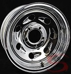 14 x 5.5 in Steel Chrome Tail Gunner Wheel 5 on 4.50 Bolt Pattern