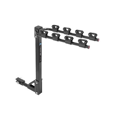 "Pro Series Bike Carrier, Translite 4 Bike, 1-1/4"" Sq. Receiver Mount w/Tilt Function, Includes 2"" Sq. Receiver Adapter #63144"