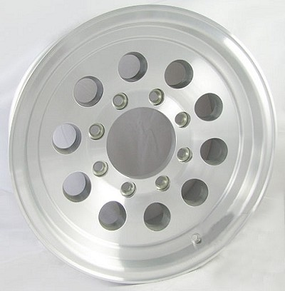 16 x 7 Aluminum Mod Hi Spec Trailer Wheel, 8x6.50 Bolt Pattern, 3,200 lb Capacity