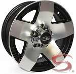 14 x 5.5 Phat Star Aluminum Trailer Wheel, 5 on 4.50 with Center Cap