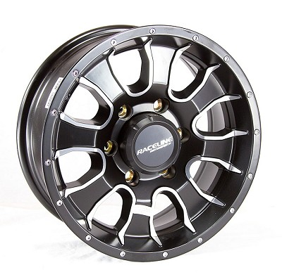 15 x 6 Mamba 860 Aluminum Trailer Wheel 6x5.50 with Center Cap, 2830 lb Capacity, Center Cap Included