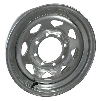 16 x 6 Galvanized Steel Spoke Trailer Wheel 8 Lug