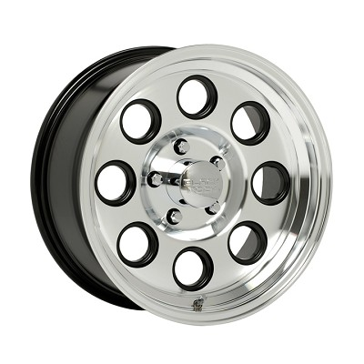 15 x 6 Machined with Clear Coat Aluminum Yuma Modular Trailer Rim 6 on 5.50
