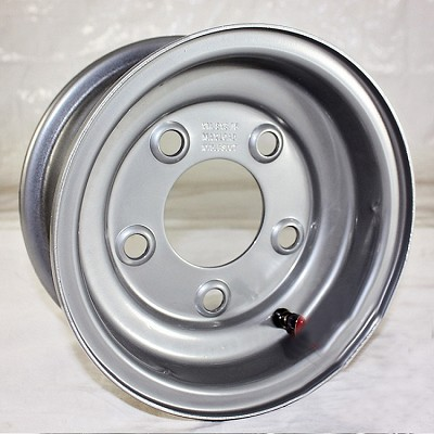 8 x 3.75 Silver Painted Steel Trailer Wheel 5 on 4.50 Lug, 900 lb Load Capacity