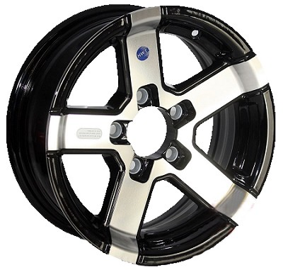 14 x 5.5 HWT Series07 Aluminum Trailer Wheel 5 on 4.50
