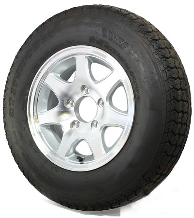 ST17580D13 Tire and Aluminum T02 Trailer Wheel Assembly