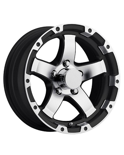14 x 5.5 Black/Silver Machined Grinder Trailer Rim 5 on 4.50 1900 lb Capacity