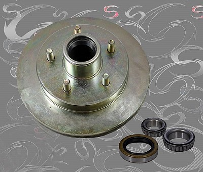 "UFP (Unique Functional Products) DB-35 5-Lug 10"" Zinc Plated Rotor Assembly 41019 / 008-435-05"