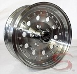 14 x 6 Inch American Racing Outlaw II Trailer Wheel (Series AR62) with Center Cap 5x4.50 Lug