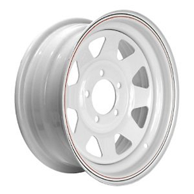 12 x 4 Trailer Wheel White Steel Spoke, 5 on 4.50 Lug, 1,045 lb Load Capacity