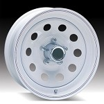 12 x 4 White Painted Modular Steel Trailer Wheel 5 on 4.50 Lug, 1,045 lb Load Capacity