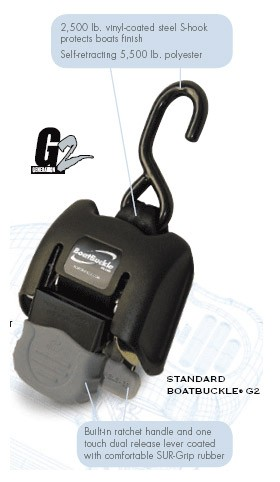 Boat Buckle G2 Retractable Transom Tie-Down
