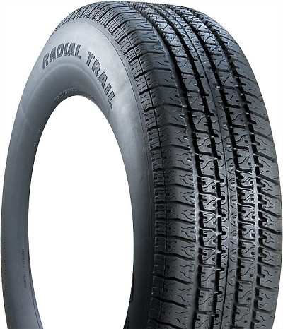 ST205/75R15 Carlisle Radial Trail HD Trailer Tire LR C 1,820 lb Capacity